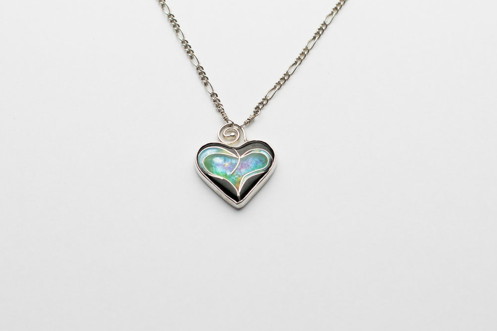 (SOLD) Sweet William Cloisonné Heart