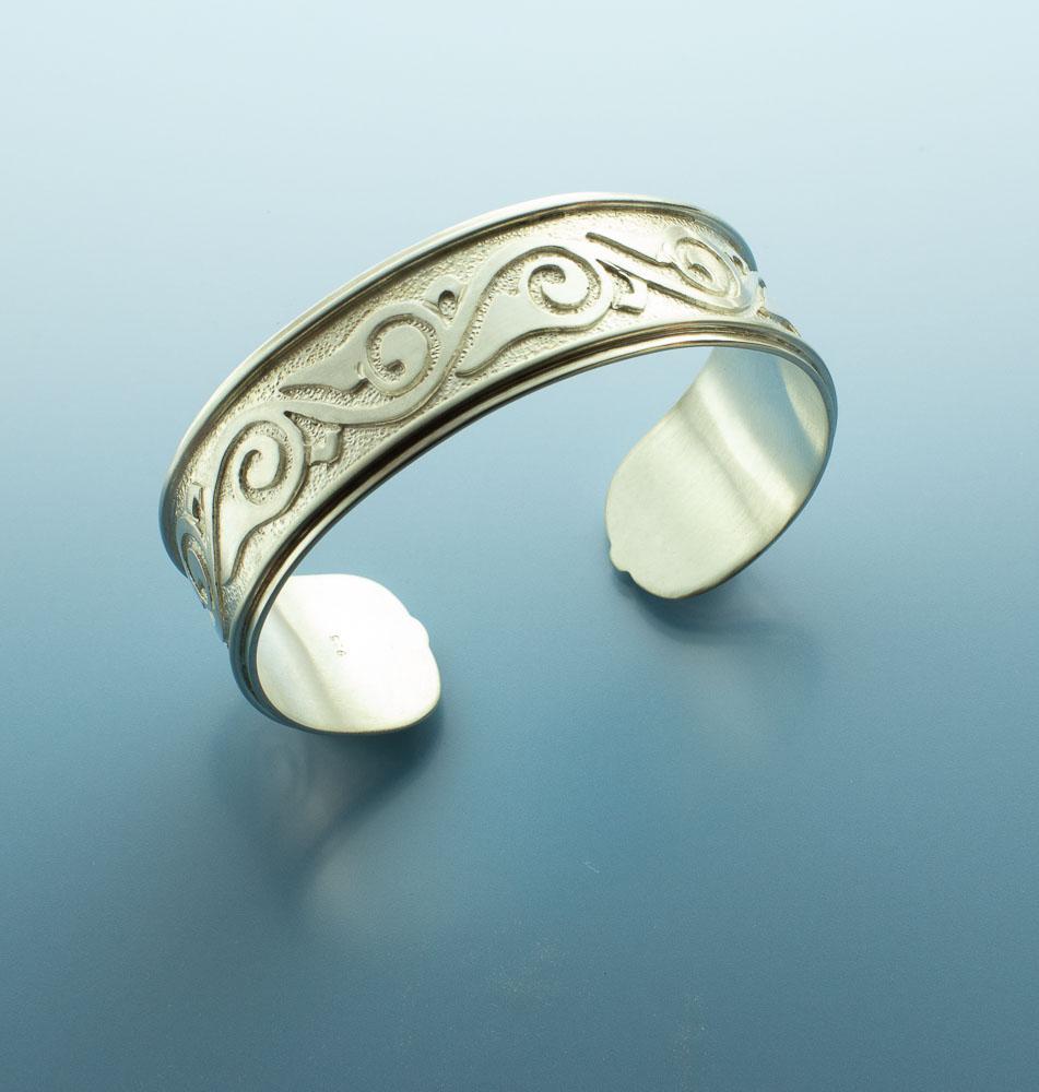 Motif Inspired Sterling Silver Bracelet Cuff Image