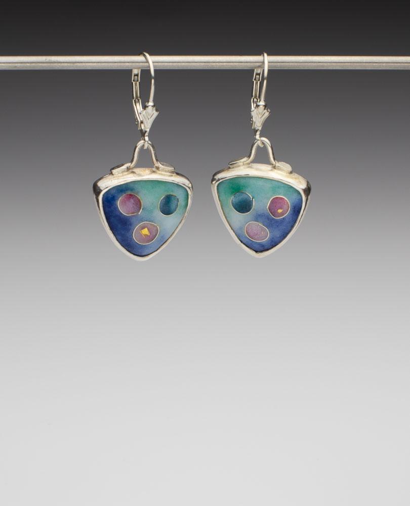 Polka Dot Enamel Earrings Image