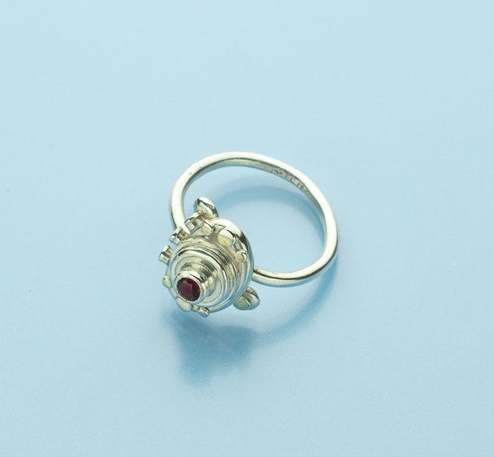 Red Zircon Stone Ring