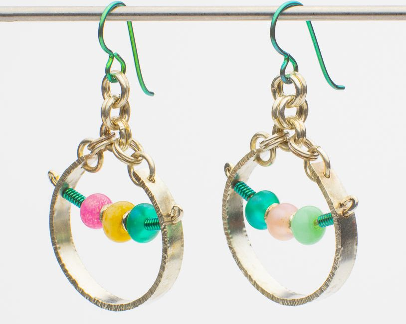 Sassy Hoops with Lampwork Glass Beads