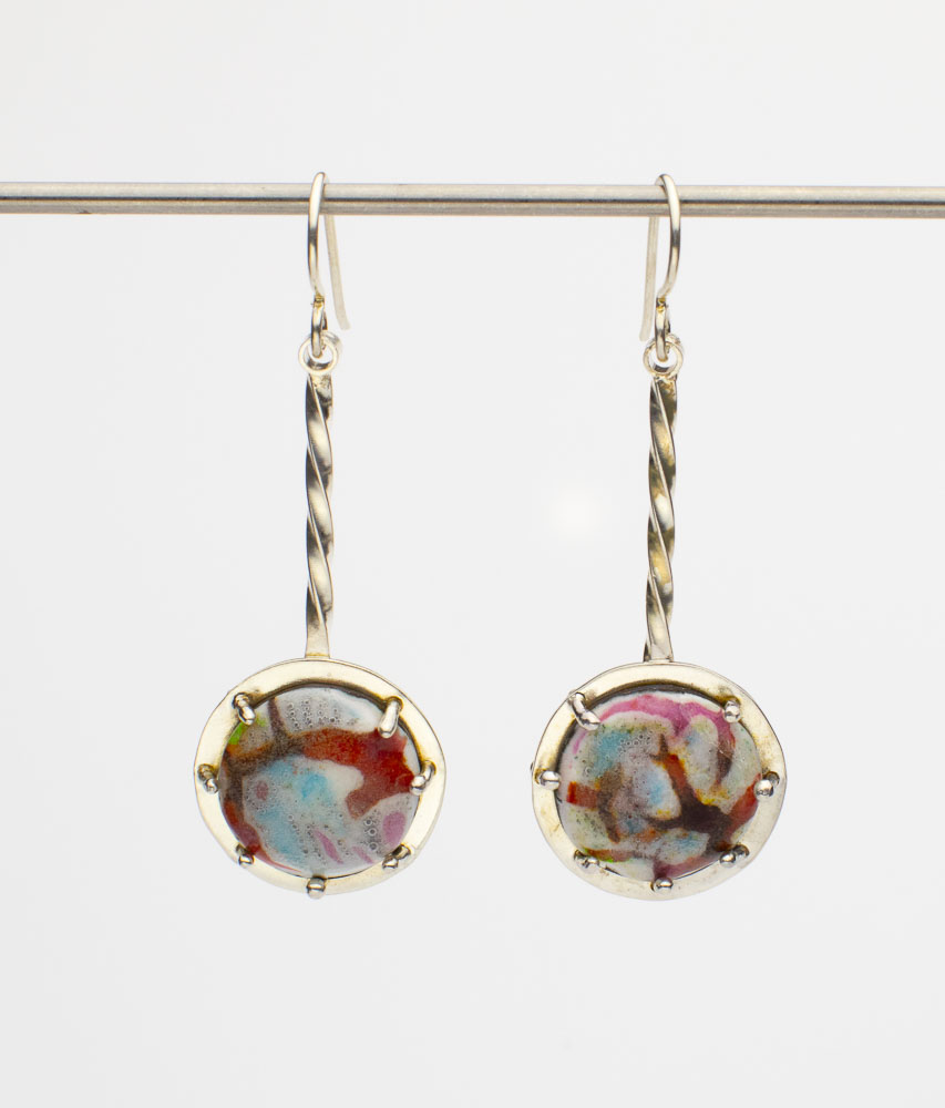Sharks Circling in the Sea Earrings Image