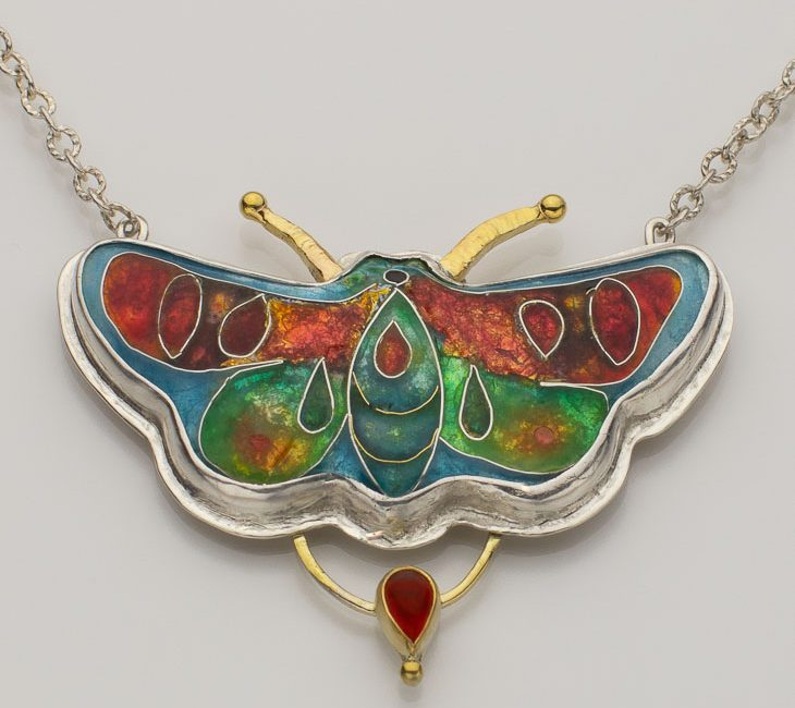 Cloisonne Enamel Butterfly with Specialty Setting