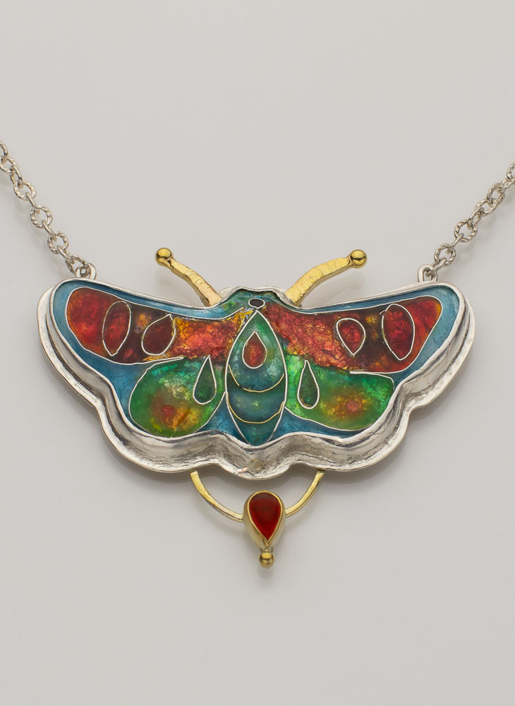 Cloisonne Enamel Butterfly with Specialty Setting Image